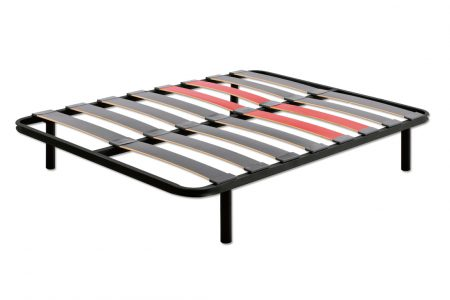Slat mattress base with wide slats
