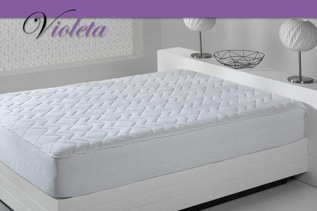 Violeta – Protector acolchado rizo algodón 100%